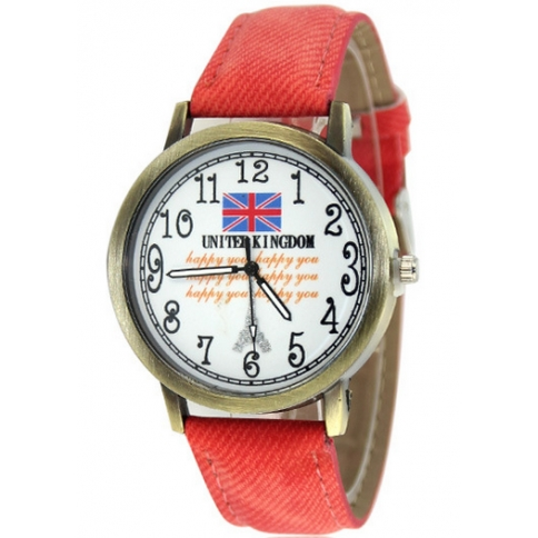 UK flag patten Casual Wristwatch in style christmas lady gifts