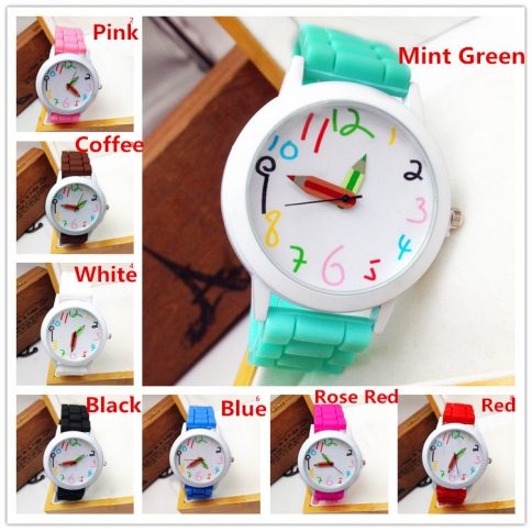 green girly faux fashion mint watch leather watches